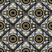 Creative Geometric 3d Greek Key Meander Vector Seamless Pattern. Modern Ornamental Abstract Geometry poster