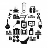 Chemical Industry Icons Set. Simple Set Of 25 Chemical Industry Vector Icons For Web Isolated On Whi poster