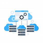 Server Control Panel, Hosting Software Vector Illustration, Eps 10 File, Easy To Edit poster