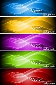 Abstract wavy banners collection. Vector illustration eps 10