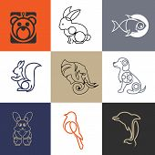 Abstract Animal Collection, Modern And Sophisticated Logo, Logo Designs For Industry And Business, A poster