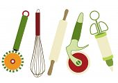 image of kitchen utensils  - Set of kitchen utensils - JPG