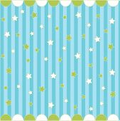 Cute seamless pattern with stars , baby card