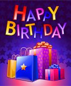 pic of happy birthday  - Birthday Background Dark  - JPG