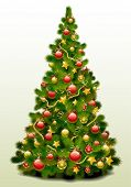 pic of christmas bells  - Christmas tree vector image - JPG