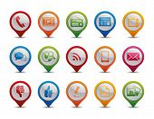 pic of dislike  - Communication icons in the form of GPS icons - JPG