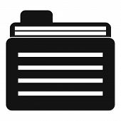 File Folder Icon. Simple Illustration Of File Folder Icon For Web poster