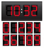 stock photo of diodes  - Digital clock - JPG