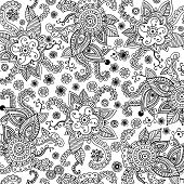 Mehndi Seamless Pattern. Coloring Book For Adults. Doodle Graphi poster