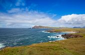 Beautiful Beach Between Slea Head And Dunmore Head At Slea Head Drive, One Of Irelands Most Scenic R poster