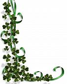foto of four leaf clover  - 3D Illustration for St Patrick - JPG