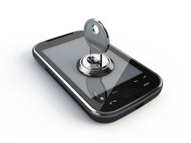 image of mobile-phone  - Phone with key - JPG