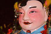 Chinese Big Head Doll In Chingay Parade, Johor Bahru, Malaysia