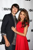 LOS ANGELES - JUL 22:  Matt Prokop, Sarah Hyland arrives at the 2012 Outfest Closing Night Gala of