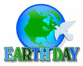 Earth Day Dove Graphic poster