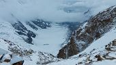 foto of skardu  - Gondogoro Glacier seen from Gondogoro Pass in the Karakorum Range in Pakistan - JPG