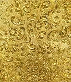 golden metal background used as background.