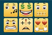stock photo of lewd  - Set of emoticons included in a series - JPG