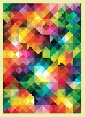 image of color geometric shape  - Colorful Triangles Modern Abstract Mosaic Design Pattern - JPG