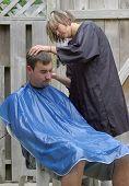 Outdoor Barber Shop poster