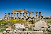stock photo of sicily  - Ruin of the Acropolis Selinunte Sicily Italy - JPG