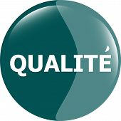 Qualite, Best Seller Stickers Icon Button