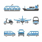stock photo of motor-bus  - Transport Icons  - JPG