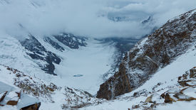 pic of skardu  - Gondogoro Glacier seen from Gondogoro Pass in the Karakorum Range in Pakistan - JPG