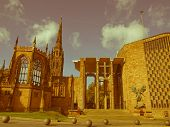 stock photo of church-of-england  - Vintage look St Michael Cathedral church Coventry England UK - JPG