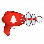 Christmas tree on retro raygun