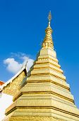 foto of cho-cho  - Golden Pagoda at Wat Phra That Cho Hae  - JPG