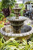 Concrete Fountain In Garden Center