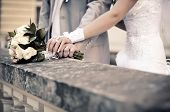 stock photo of bouquet  - couple - JPG