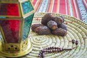 stock photo of prayer beads  - Close up of an arabic dates - JPG