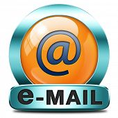 image of mailbox  - email box or mailbox icon e - JPG