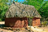 image of mud-hut  - Mayan hut in the middle of the jungle en Chichen Itza Mexico - JPG