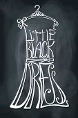 stock photo of little black dress  - Typography Dress Design - JPG