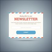 picture of newsletter  - Newsletter subscribe form for web and mobile - JPG