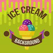 picture of ice cream parlor  - Retro ice cream poster - JPG