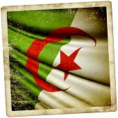 foto of algiers  - vector art and illustration of flag of Algeria - JPG
