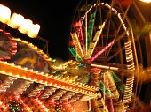 picture of funfair  - colourful blur of night - JPG