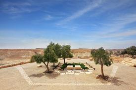 pic of prime-minister  -  Kibbutz Sde Boker in the Negev desert - JPG