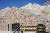 stock photo of aconcagua  - Aconcagua Visitor - JPG