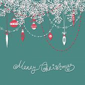 stock photo of teardrop  - Christmas scrapbook card - JPG