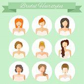 stock photo of bridal shower  - Bridal hairstyle  - JPG