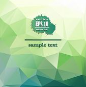 stock photo of champagne color  - Abstract geometric background with polygons turquoise color - JPG