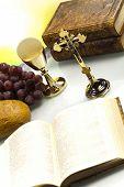 stock photo of eucharist  - Holy Communion Bread - JPG
