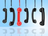 picture of helpdesk  - Phone Call Representing Contact Us And Helpdesk - JPG