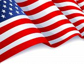 picture of usa flag  - Vector illustration  - JPG