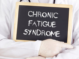 image of fatigue  - Doctor shows an information - JPG